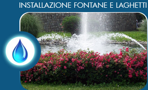 Installazione fontane e laghetti